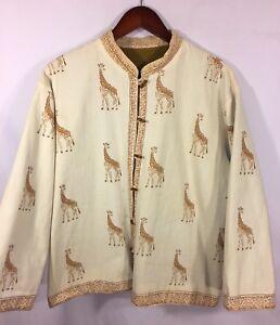 Moda L Tela Cappotto Donna Safari Reversibile Giraffa Giacca Pesante Taglia SwZ8xz