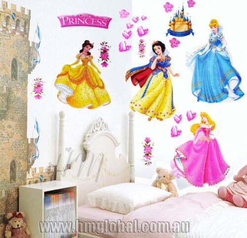 4 DISNEY PRINCESS Kids Wall sticker for Kids room /& Nursery