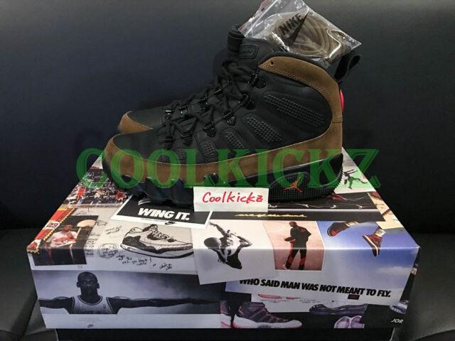 83c61e5c91e479 Air Jordan 9 XI Retro Boot NRG Black Olive Red Ar4491-012 Size 8 for ...