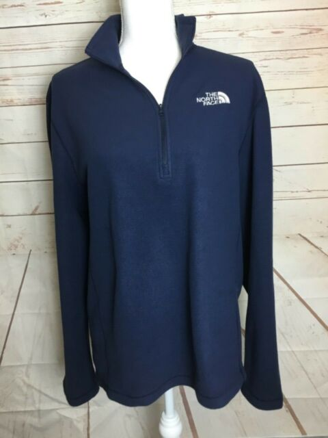 97d022d2c The North Face Mens Borod 1/4 Zip Fleece Pullover Jacket Blue Medium