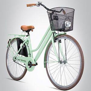 28 zoll damenfahrrad bergsteiger amsterdam citybike korb u licht retro damenrad ebay. Black Bedroom Furniture Sets. Home Design Ideas