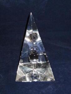 Baccarat-Crystal-Art-Glass-Bijan-Bahar-Clear-Decorative-Sculpture-Signed-6-7-8-034