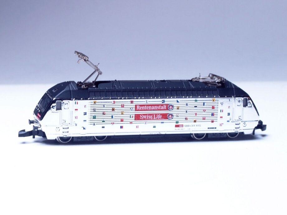 8854 Marklin Z -skala Electric Locomotive Rentenanstalt Swiss SBB cl460 LED