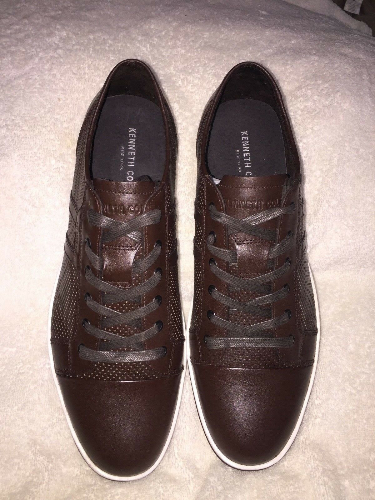 NEW Kenneth Cole New York Brand Brown Mens Fashion Sneaker Size 11