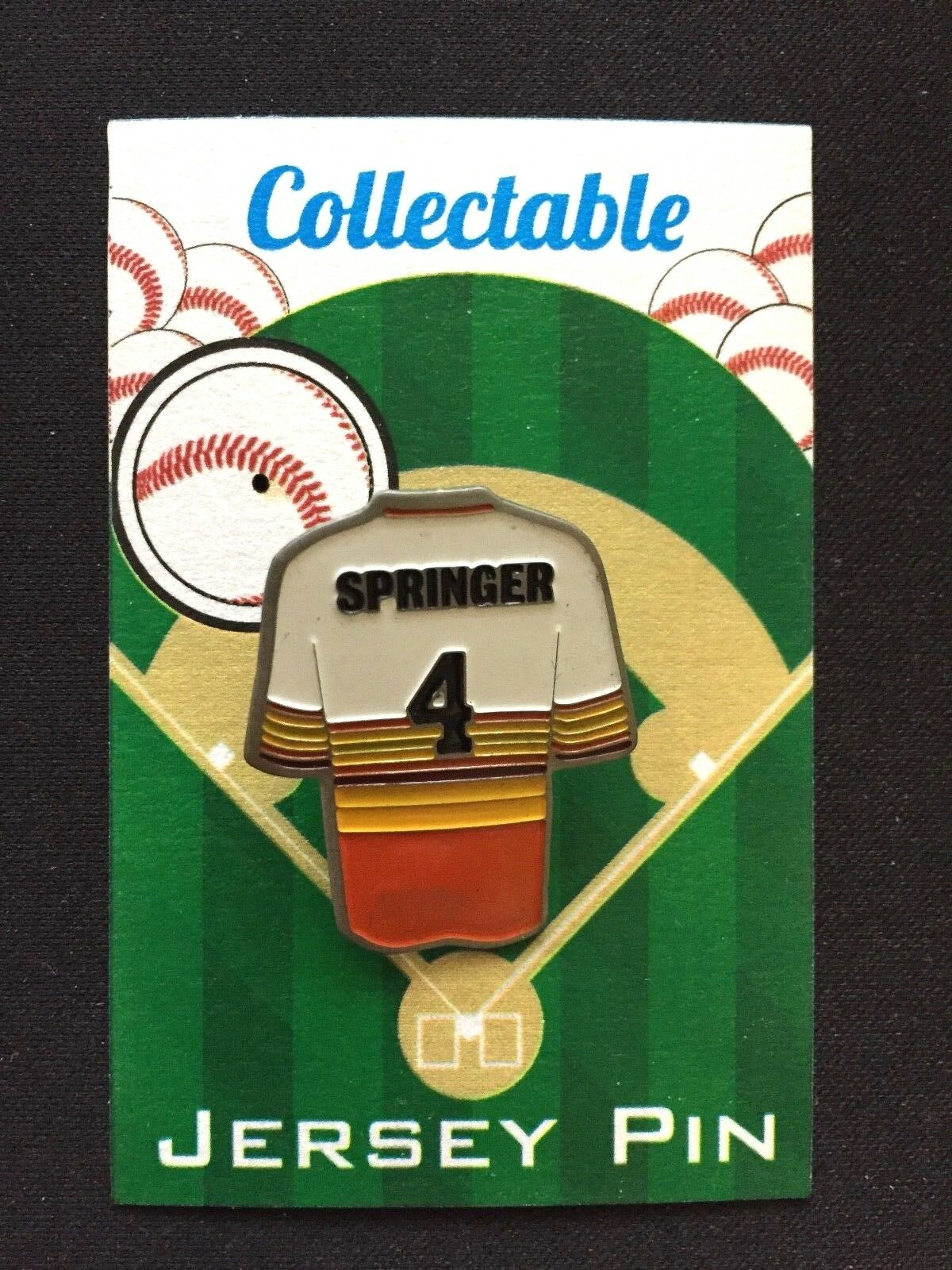 Houston Astros George Springer Revers Pin-World Pin-World Pin-World Serie Champion  1 Sammelobjekt b33c8f