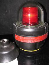 Federal Signal 27xl 024r Explosion Proof Led Warning Light 24v Black Case Red