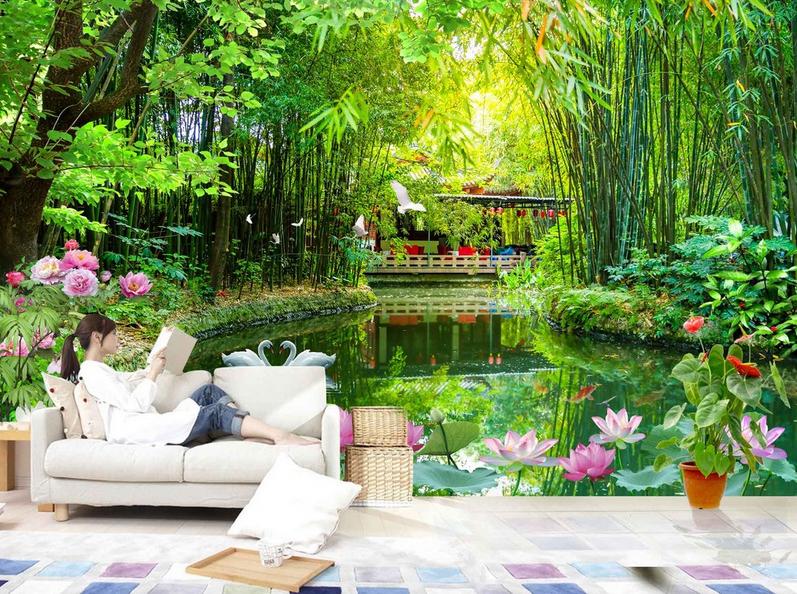 3D Lotus See Bambuswald Tapete Wandgemälde Tapete Tapeten Bild Familie Familie Familie DE Summer | Qualität  | Preiszugeständnisse  | Internationale Wahl  0e1a17