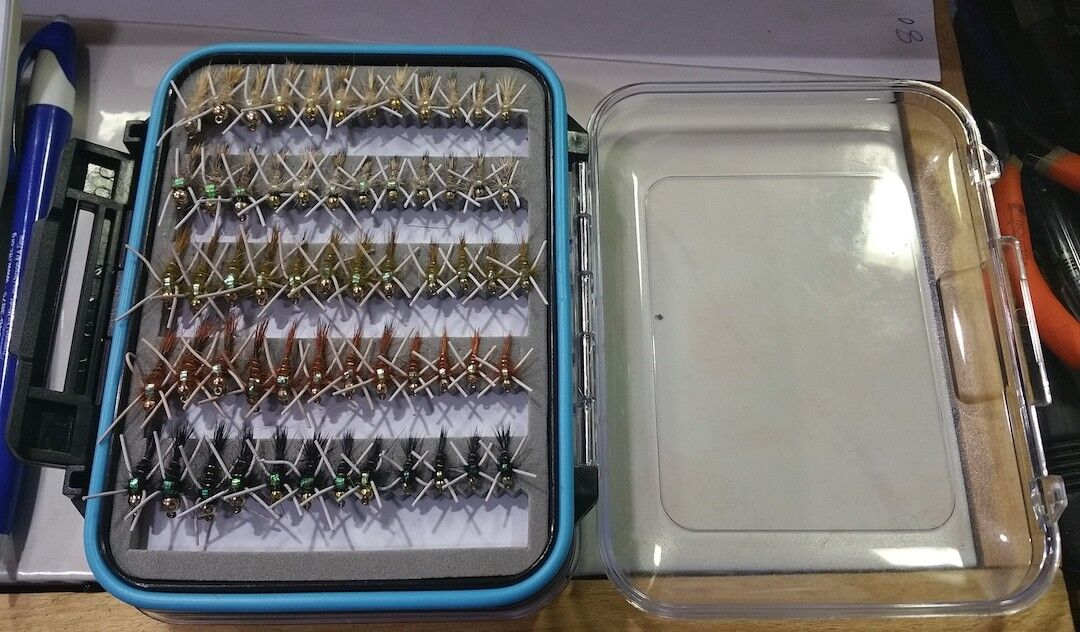 72  BH RBR Leg Hare's Ear Nymph Wet  Trout Fly Assortment  save on clearance