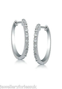 18Carat-White-Gold-Diamond-Set-Pair-of-Hoop-Earrings-0-10-carats-15mm-wide