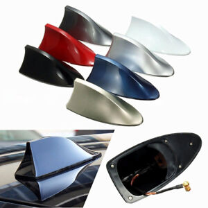 Shark-Fin-Roof-Antenna-Aerial-FM-AM-Radio-Signal-Decoration-Car-Trim-Universal