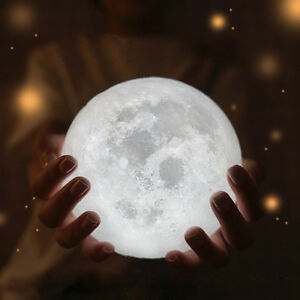 Lattest 3d usb led magical moon night light moonlight - Table basse lumineuse led moonlight ...