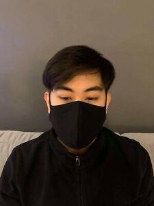 Black & White Face Mask, Fabric Mask, Cotton Mask, Half Mask, Washable Mask