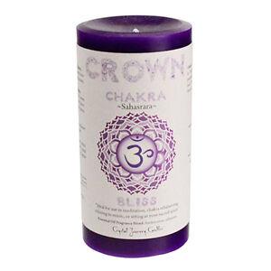 Details about CROWN CHAKRA Meditation candle Crystal Journey CANDLES Pillar  Sahasrara