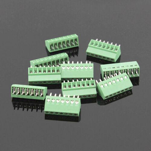 10PCS 7 poles//7 Pin 2.54mm 0.1/'/' PCB Universal Screw Terminal Block Connector