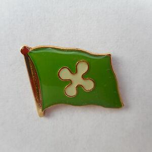 Lombardei-Flaggenpin-Flagge-Pin-Badge-Label-Italien