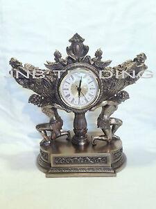 Atlas Carrying Vessel Of Harvest Clock Statue Figures Sculpture Ship Immediatel