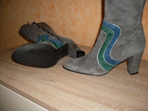 Studio W botas nuevo talla 36 en gris & gamuza cuero muy noble feminil