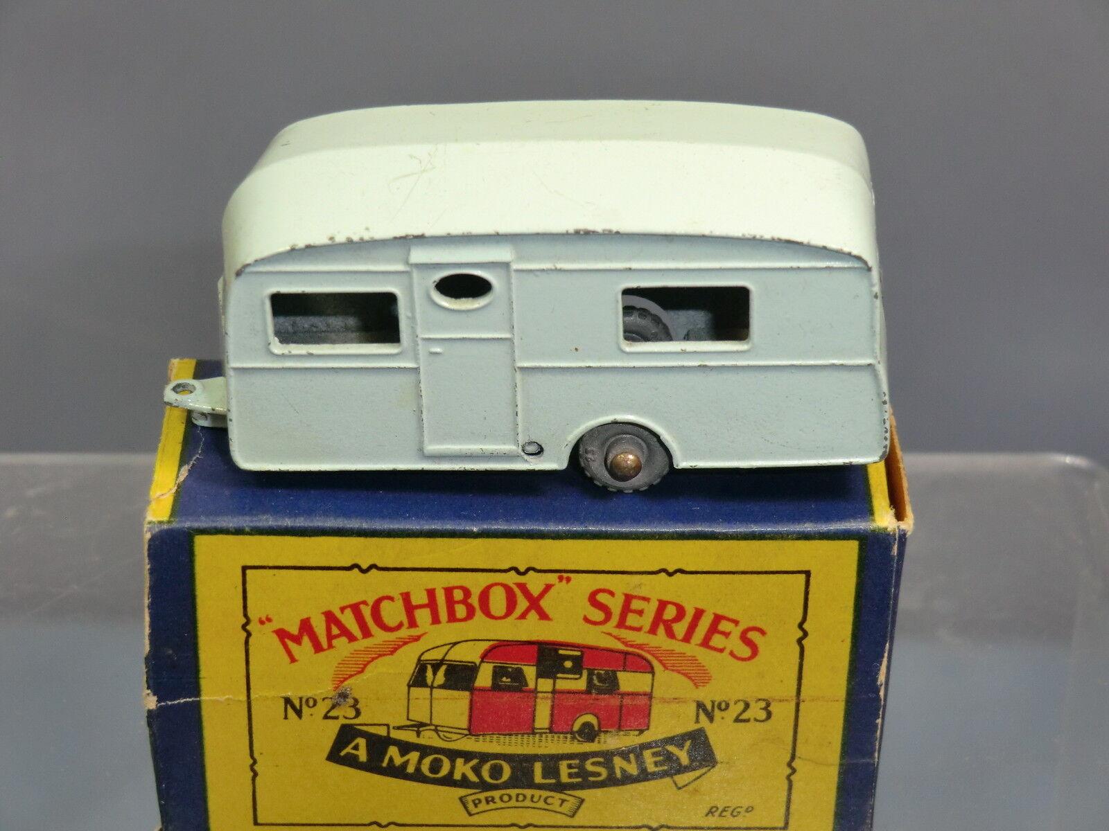 MATCHBOX MOKO LESNEY  MODEL No.23a     BERKELEY   CARAVAN     VN MIB