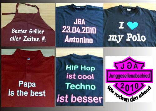 T-Shirt Druck,Druckeinheit Sweat,Trikot,Trainingsanzug,Junggesellenabschied etc.
