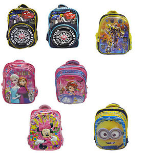 2b1334f93257 Image is loading 3D-Character-Girls-Boys-School-Bags-Rucksack-Backpack-
