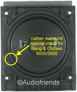4x Rubber Surrounds For Speaker Repair Bang Olufsen