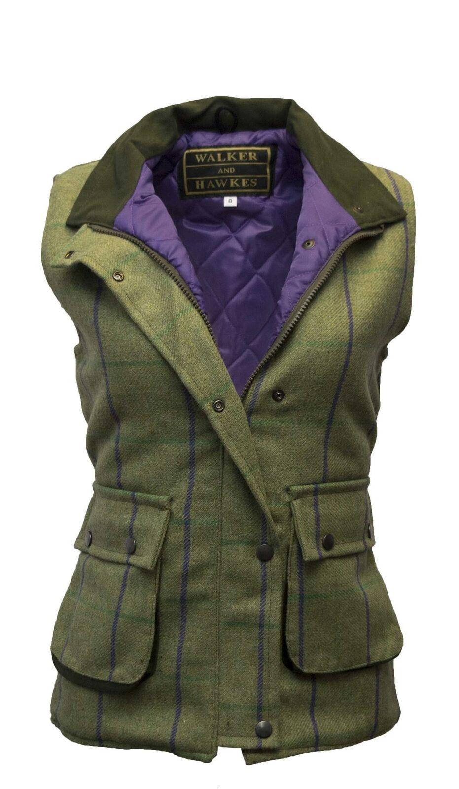Waistcoat for Ladies Tweed Shooting Country Gilet by Walker & & & Hawkes - PP Stripe 43b0cb