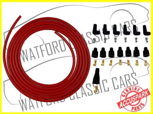 Accuspark Custom 6cyl 8MM alto rendimiento 5 Metros Rojo Ht Alambre Y Botas