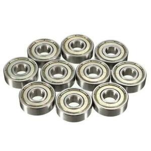 8mm-Roller-Skate-Bearings-Silver-Chrome-Steel-ABEC-7-Pack-of-16