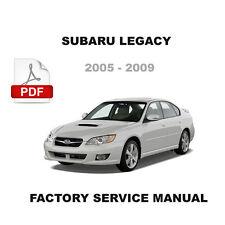 2005 2006 2007 2008 2009 SUBARU LEGACY FACTORY SERVICE REPAIR WORKSHOP MANUAL
