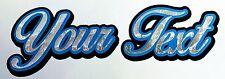 CUSTOM TEXT HELMET STICKER old school silver leaf lettering decal paint flake