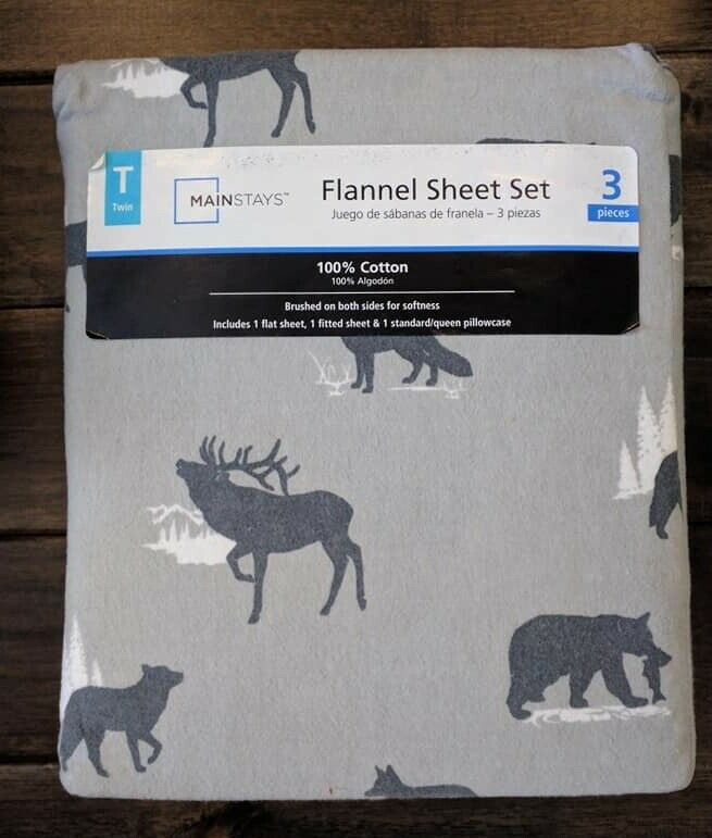 Bettlaken Nwt Mainstays Queen Flannel Sheet Set Puppies Dogs 4 Piece Cotton Tan Multicolor Arctic Se
