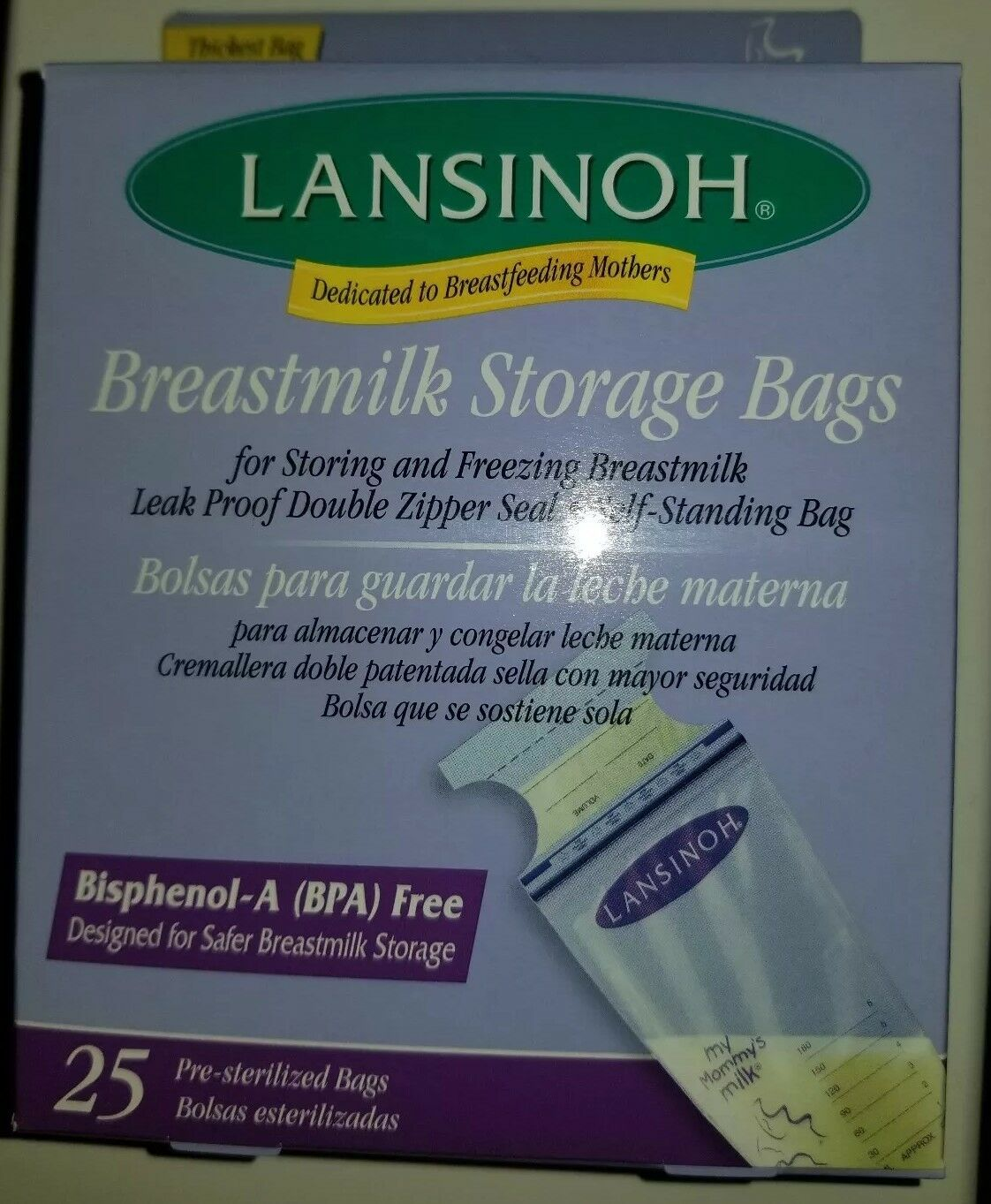 LANSINOH BREASTMILK FREEZER STORAGE BAGS 25 CT #20435