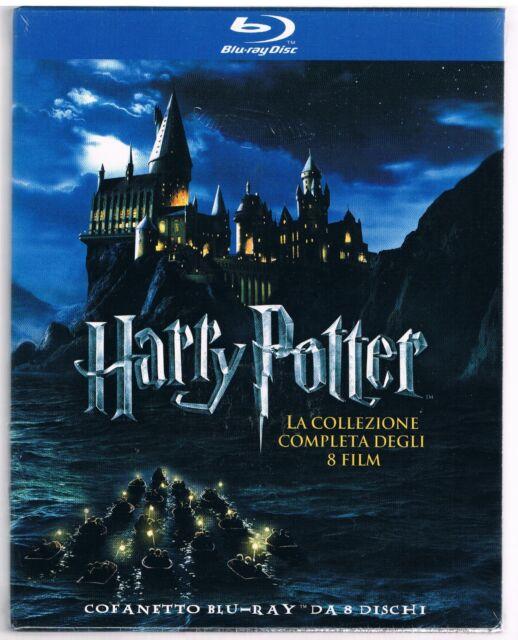 HARRY POTTER LA COLLEZIONE COMPLETA DEGLI 8 FILM BOX 8 BLU RAY F.C. SIGILLATO!!!