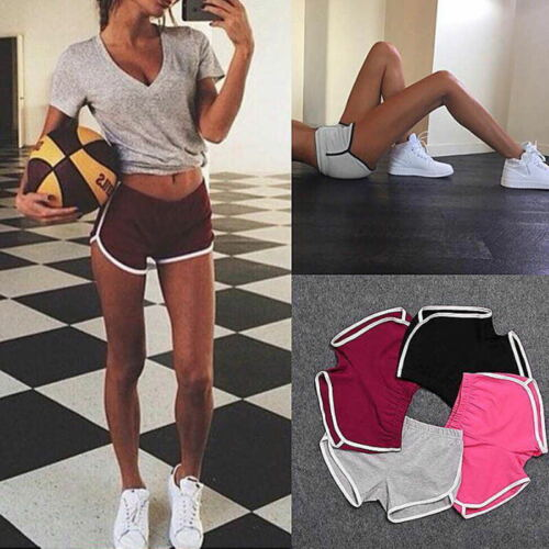 Women Elastic Sports Shorts Casual Ladies Beach Summer Running Gym Yoga Hot Pant