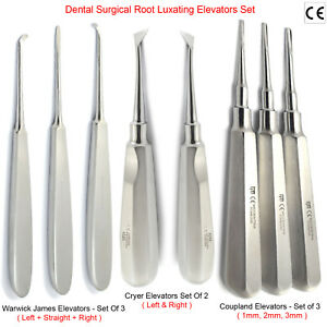 MEDENTRA-8pcs-Dental-Tooth-Extracting-Extraction-Root-Luxating-Elevators-Set-CE