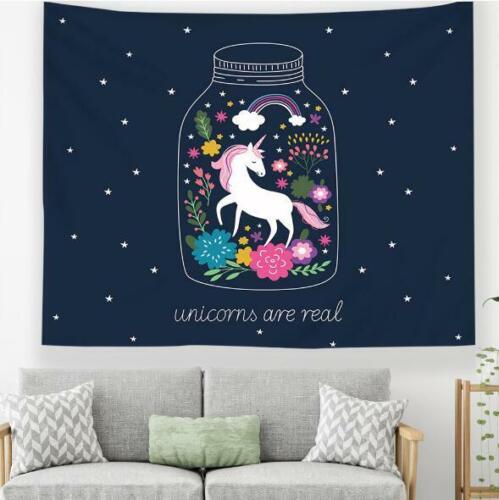 3D Unicorn Rainbow P522 Tapestry Hanging Cloth Hang Wallpaper Mural Photo Zoe