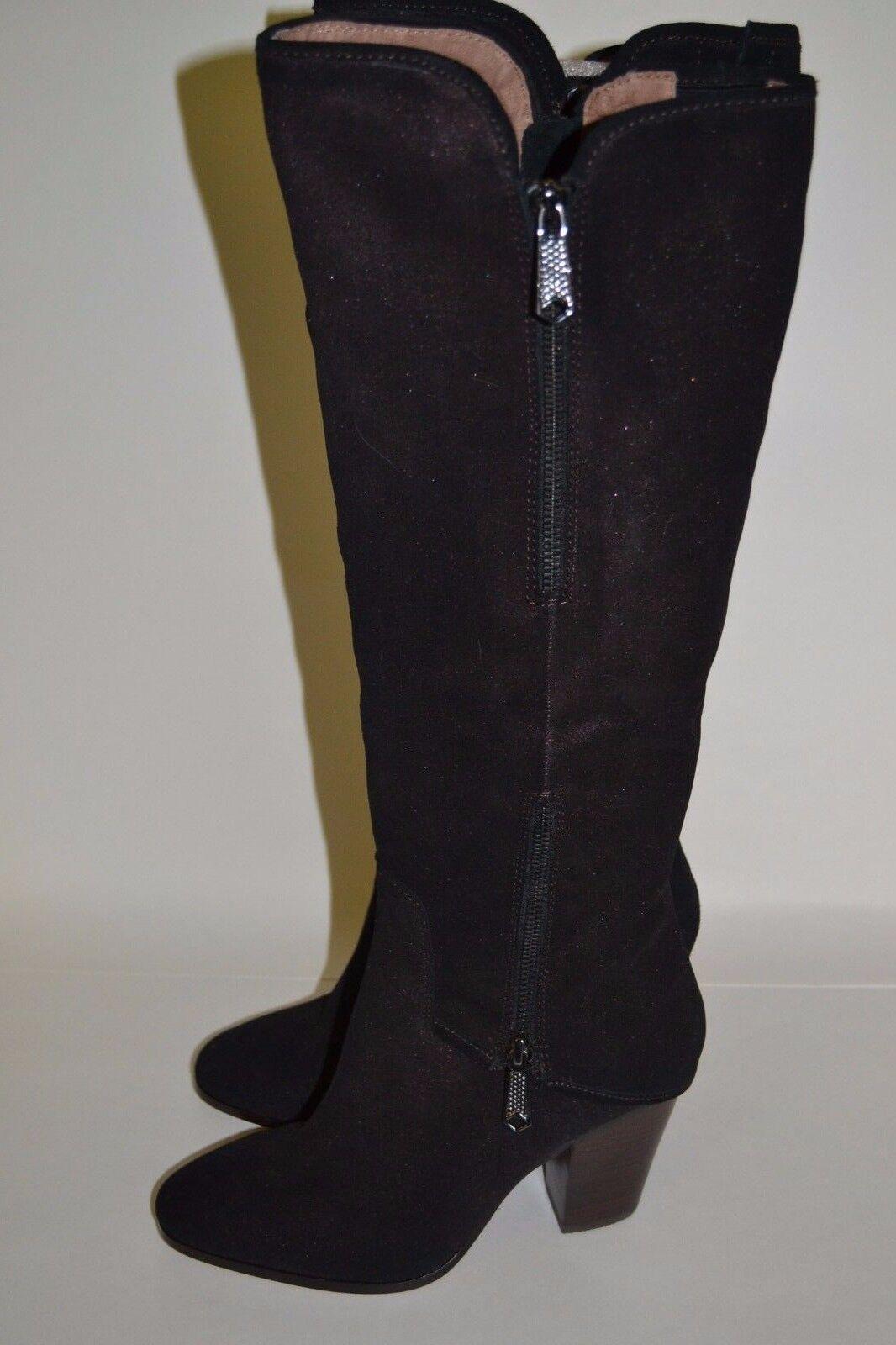 Donald J Pliner SANDORA schwarz W  Bronze Sparkle Suede Stiefel NWOB  398 SZ 7.5