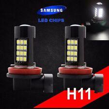 H11 Samsung Chip LED 42 SMD Bright White 6000K Headlight 2 x Light Bulb Low Beam