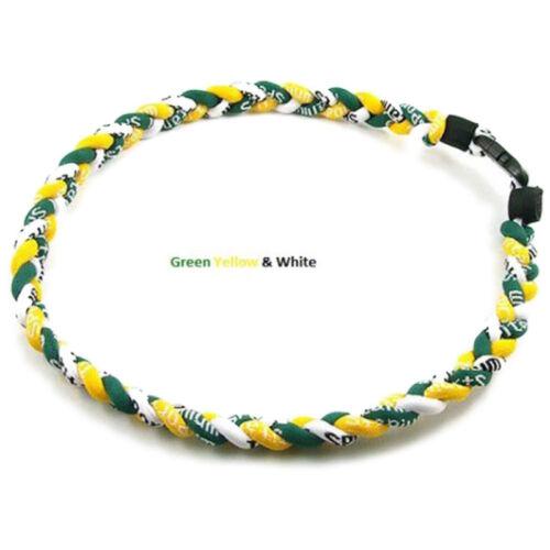 "Titanium Ionic Sports Baseball Necklace 20/"" 3-rope Tornado Braid PLZY VA"
