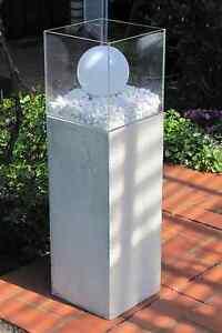 besigns beton windlichts ule deko terrasse wohnzimmer windlicht s ule 85cmgarten ebay. Black Bedroom Furniture Sets. Home Design Ideas