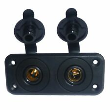 2 x 15A Hella Accessory Power Sockets  - Marine Quality - with Twin Mount Plate