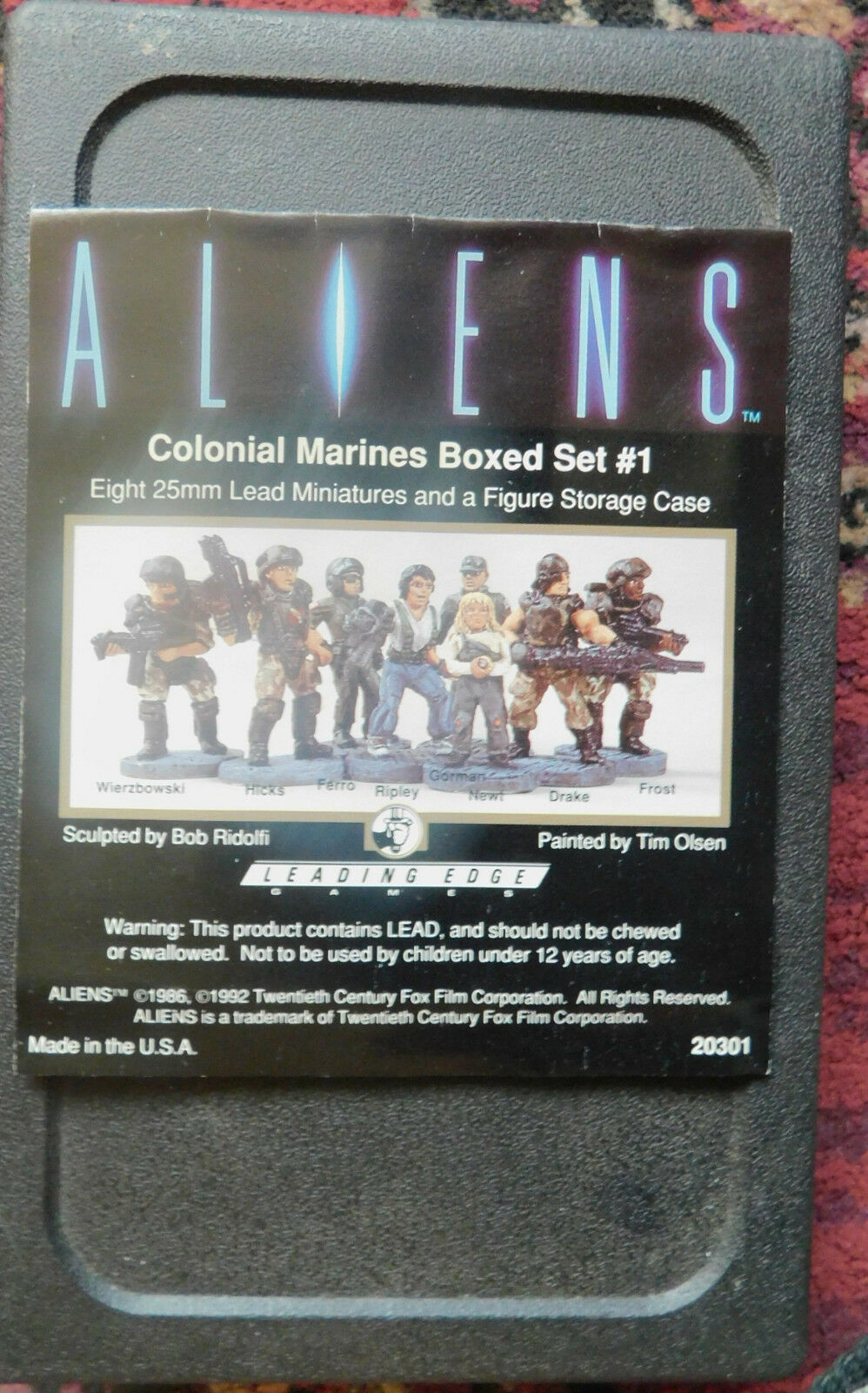 Aliens colonial marine miniatures boxed boxed boxed set 1 ( metal painted) 1992 be1d2d