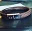 Personalised-Mens-Leather-Bracelet-Engraved-handprint-feet-DADDY-Jewellery thumbnail 1