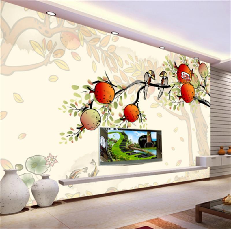 3D Pomegranate Bird 883 Wallpaper Mural Paper Wall Print Wallpaper Murals UK
