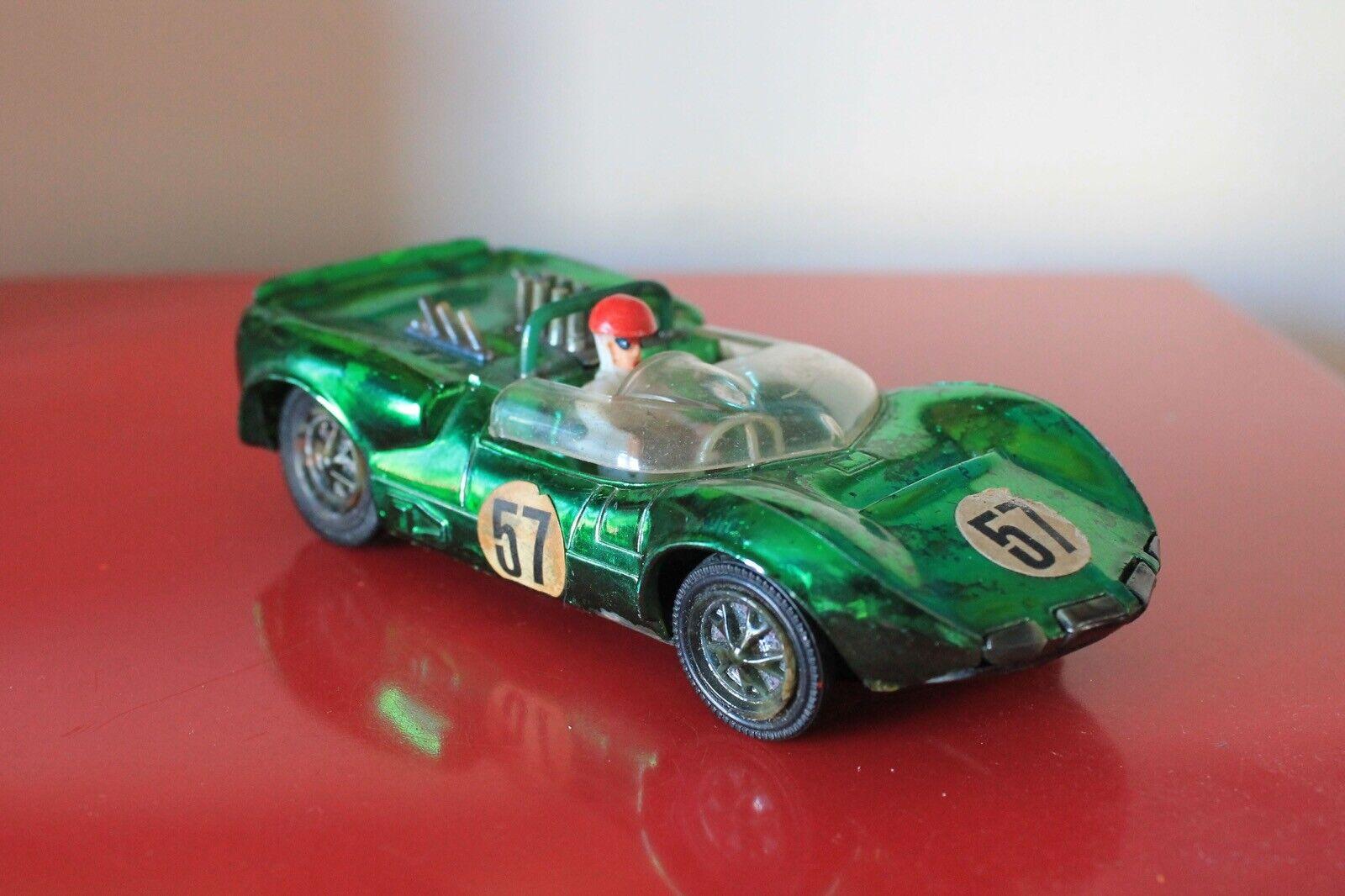 "Zee Toys 5.5"" CHAPERRAL Plastic Friction Racing Car GREEN Hong Kong No 2057"