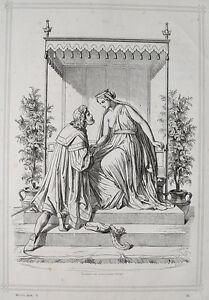 Engelbert Seibertz Faust Goethe Helena Troja Krone Antike Toga Brust