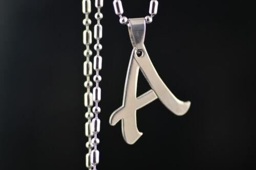 Bardian Fashion Acier Inoxydable Chaîne Anglais 26 Lettres Collier bon teint A ~ Z