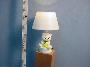 Marvelous Image Is Loading Dollhouse Miniature Battery Light Nursery Lamp Teddy Bear