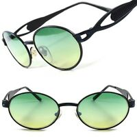 Two Tone Green Lens Urban Hipster 60's 70's Mens Womens Round Oval Sunglasses C6