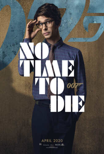 E160 Ben Whishaw 007 No Time to Die 2020 Movie Poster Fabric Art 40 48x32